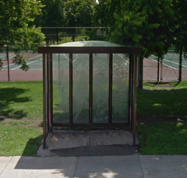 One of the 170 remaining CTA-owned bus shelters at 2650 W. Montrose Ave.  (Source: Google)