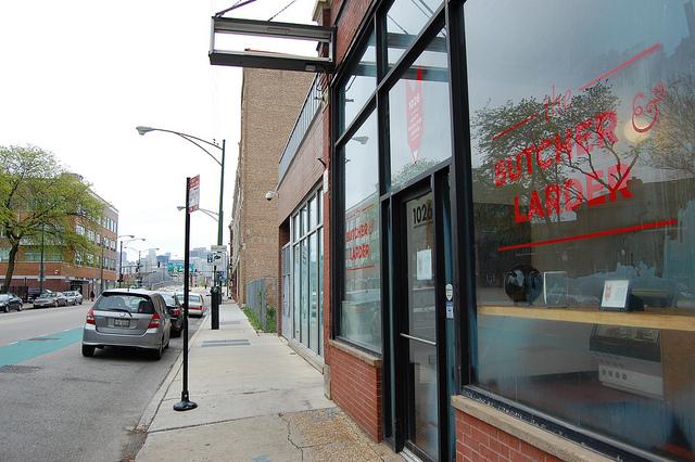 The Butcher & Larder storefront on Milwaukee Avenue (WBEZ/Louisa Chu)