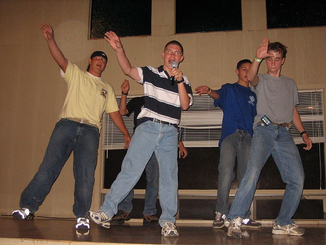 A group of  boys performs N'Sync's 'Bye, Bye, Bye' at camp (Flickr/Camp ASCCA)