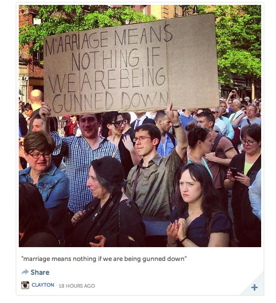 Marchers in New York (Instagram/Clayton)