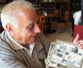 Paul Kondraros shared photos of his family in Diros, a village in Southern Greece. He said his uncle discovered Alepotrypa Cave when he was hunting with his dog.  (Cassidy Herrington/WBEZ)