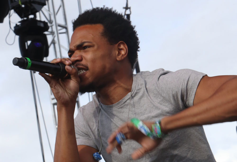 Chance the Rapper performs at The Sasquatch! Music Festival at the Gorge Amphitheatre on Friday, May 23, 2014, in George, Washington. (AP/John Davisson)