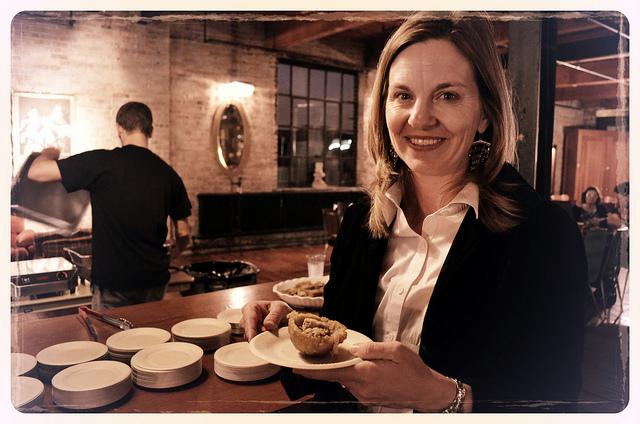 BEZ COO Alison Scholly at Borinquen, Chef Battle 2012 (WBEZ/Louisa Chu)