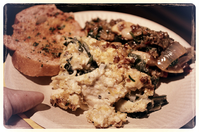Munch all vegetarian plate at Chef Batle 2012 (WBEZ/Louisa Chu)