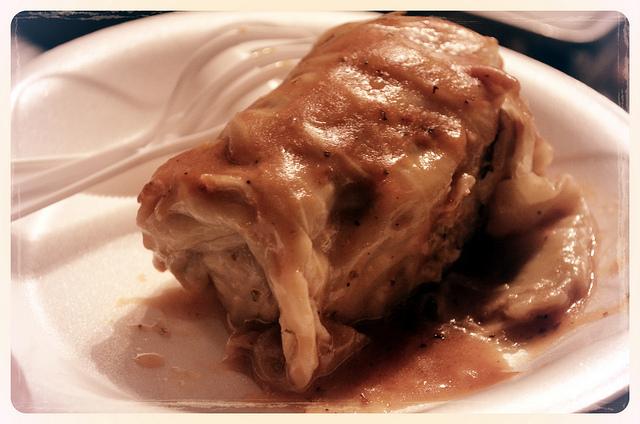Staropolska stuffed cabbage at Chef Battle 2012 (WBEZ/Louisa Chu)