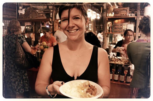 WBEZ Member Susan Chiara at Tank Noodle. Chef Battle 2012 (WBEZ/Louisa Chu)