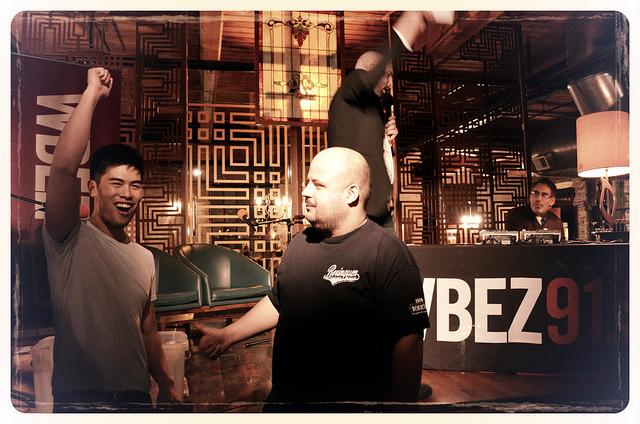 Team Tank wins Chef Battle Royale 2012 (WBEZ/Louisa Chu)
