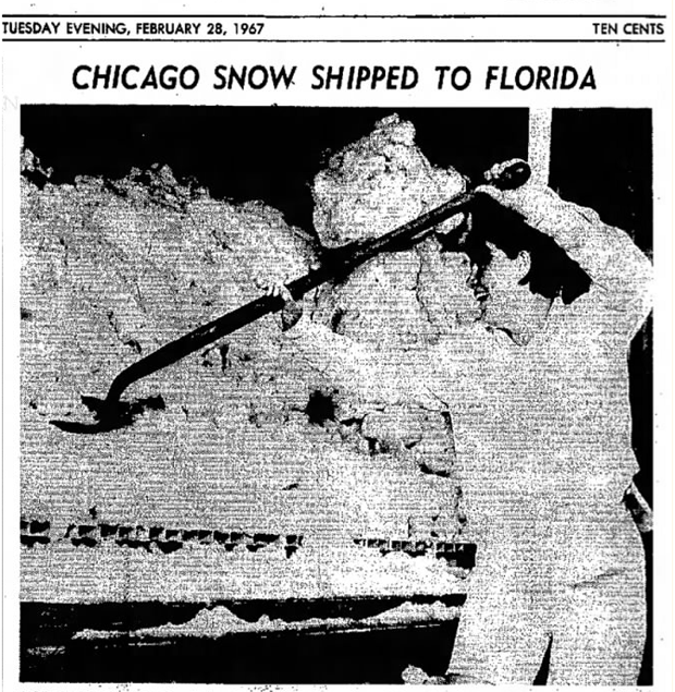 A photo of Terri on the front page of the Charleston Daily Mail the day after the snow's arrival.