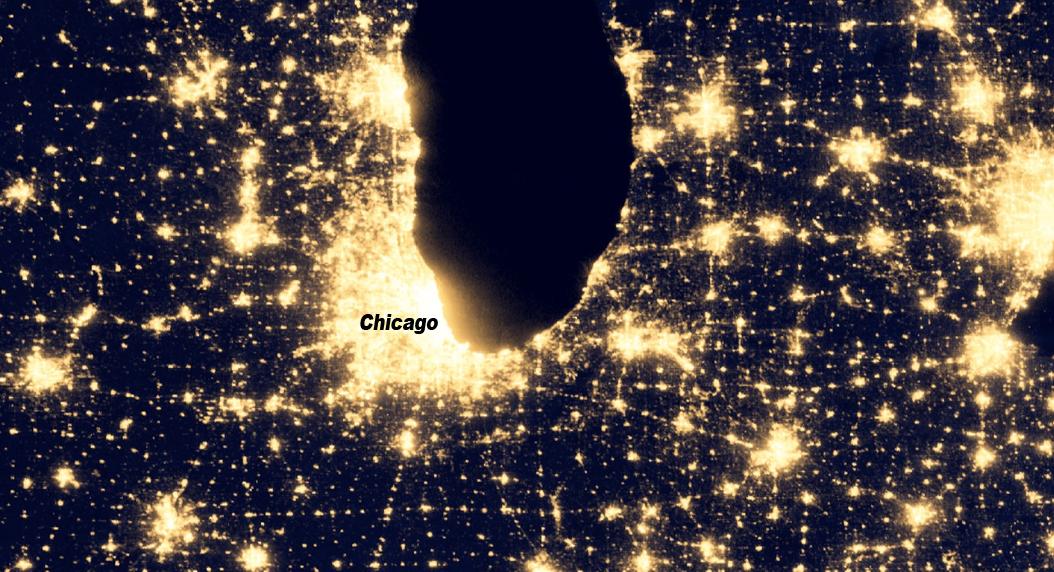 Chicagos Best Stargazing Spots WBEZ - Map of light pollution us