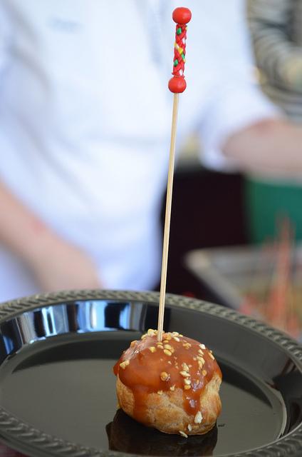 Meg Galus, NoMI Kitchen: caramel apple cream puff (WBEZ/Louisa Chu)