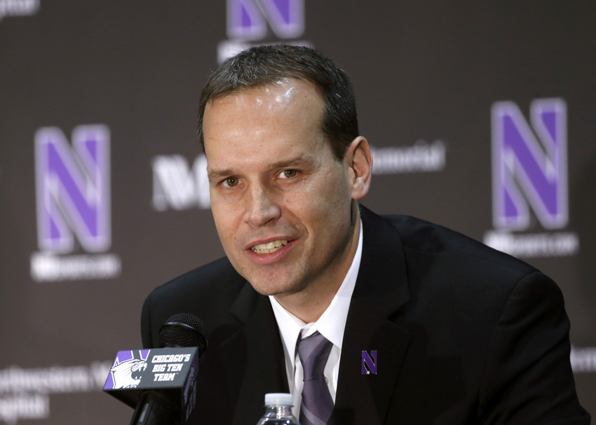 Can Chris Collins finally take NU to the NCAA tournament? (AP Photo/Charles Rex Arbogast)