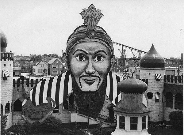 Aladdin's Castle at Riverview Amusement Park. (Courtesy Chuck Wlodarczyk)