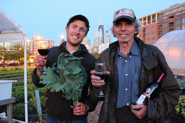 Dan Hurowitz and Ken Dunn at City Farm in Chicago (WBEZ/Louisa Chu)