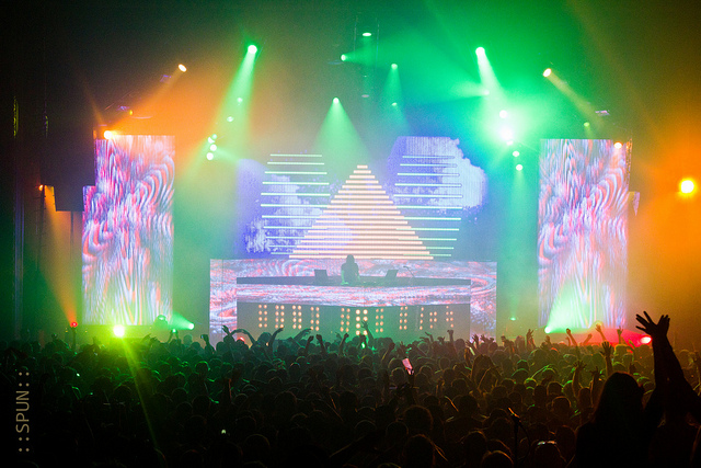 DJ Bassnectar at the Congress Theater in Chicago on April 14, 2012. (Flickr/Nicki Spunar)