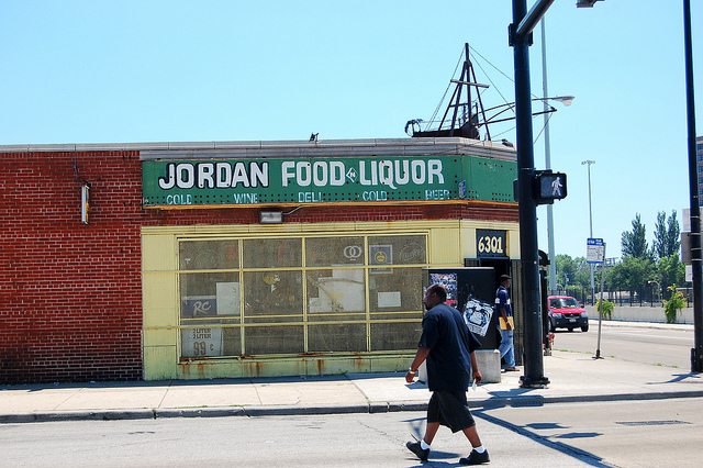 Mari Gallagher's first task is finding out what is sold at all kinds of retailers, like this corner store in Chicago's Englewood neighborhood. (Flickr/Eric Alix Rogers)