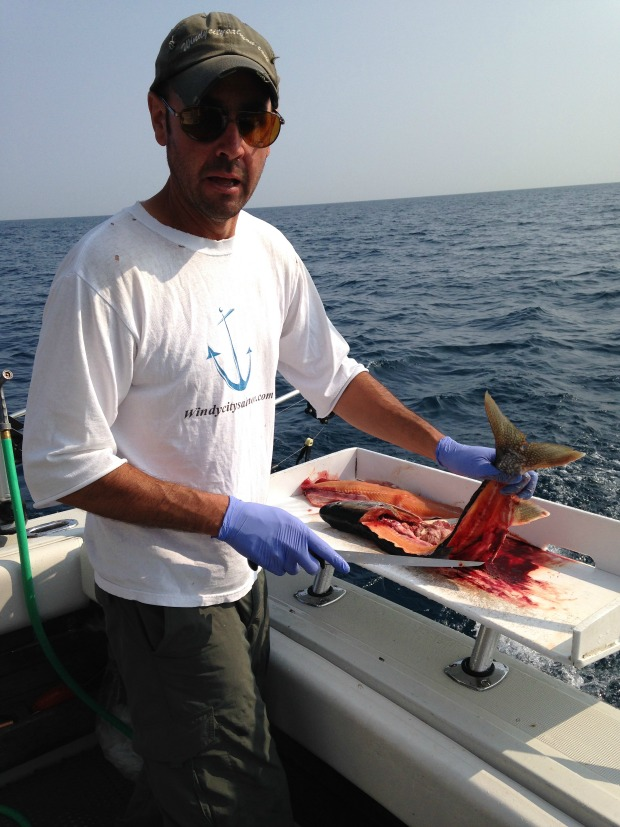 Captain Rick Bentley, owner of Windy City Salmon Fishing Charters. (WBEZ/Lauren Chooljian)