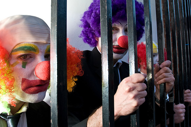 Is there anything sexier than going 'full clown'? A: No. (Flickr/JBrazito)