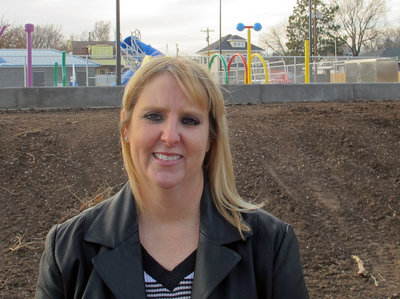 Dea Mandevill, city manager of Medford, Okla., says the earthquakes are worth all the benefits the oil boom has brought: a new park, police cars, construction equipment and ambulances. (Frank Morris/KCUR)