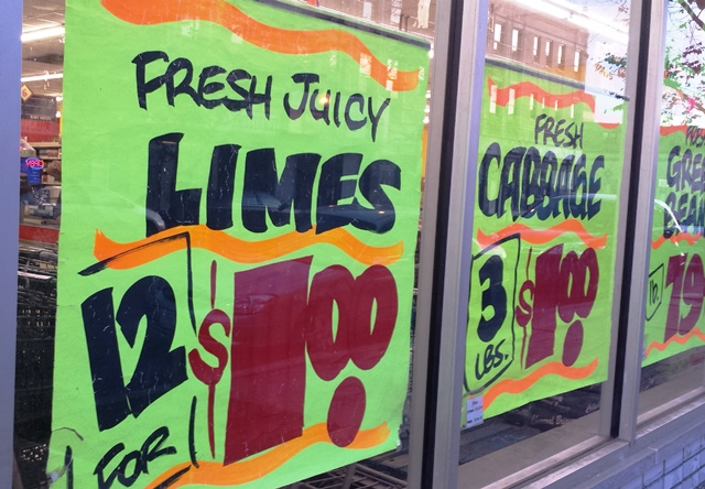 Ethnic grocery stores can offer incredible deals on produce because they sell so much of it, store reps say. (WBEZ/Monica Eng)