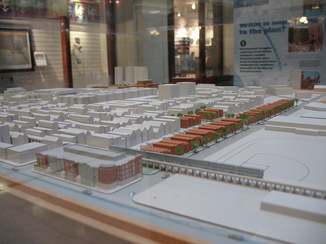 A model of Parkside of Old Town, a mixed income housing complex that replaced some of Cabrini Green (Flickr/Fire of the Mind)
