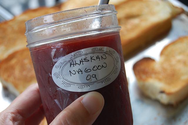 Wild Alaskan nagoon berry jelly (WBEZ/Louisa Chu)