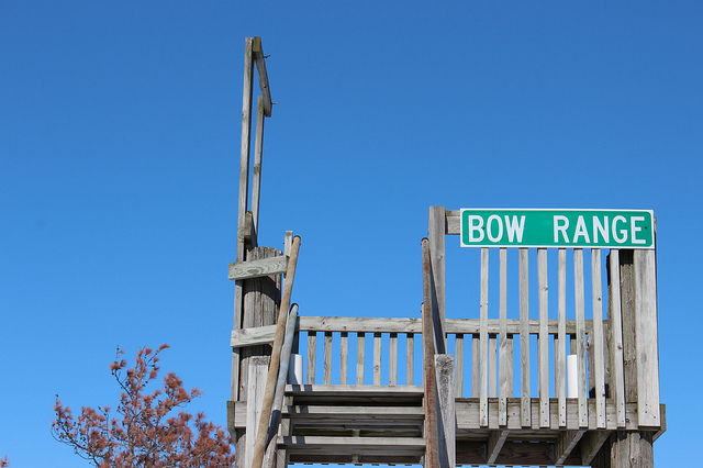 Bow range at the Harvard Sportsman's Club in Harvard, Illinois (WBEZ/Louisa Chu)