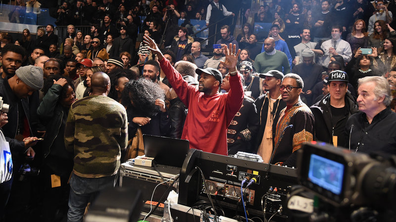 Kanye West premiered The Life Of Pablo in only the way Kanye West could: at his Madison Square Garden fashion show. (Jamie McCarthy/Getty Images)