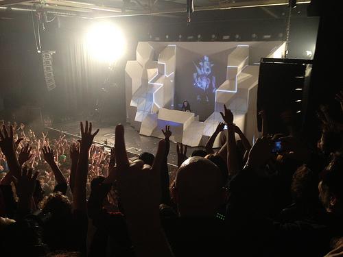 Skrillex performs live (Flickr/gillyberlin)