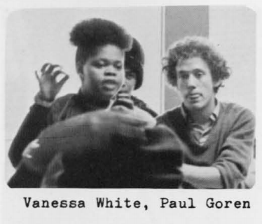 Paul Goren, right, at Metro High School in 1975.