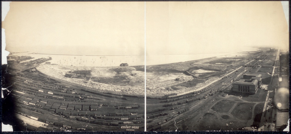 Grant Park pictured in 1906, before the area was beautified. (Library of Congress)