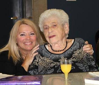 Hanna Bratman, celebrating Wanda's birthday (Courtesy of Darlene Schweitzer)