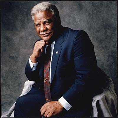 Harold Washington posing in Playboy Magazine, which is one image Life Formations used to replicate the former mayor.