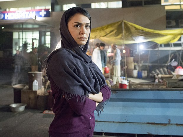 Nazanin Boniadi plays analyst Fara Sherazi on Showtime's Homeland. (David Bloomer/Showtime)