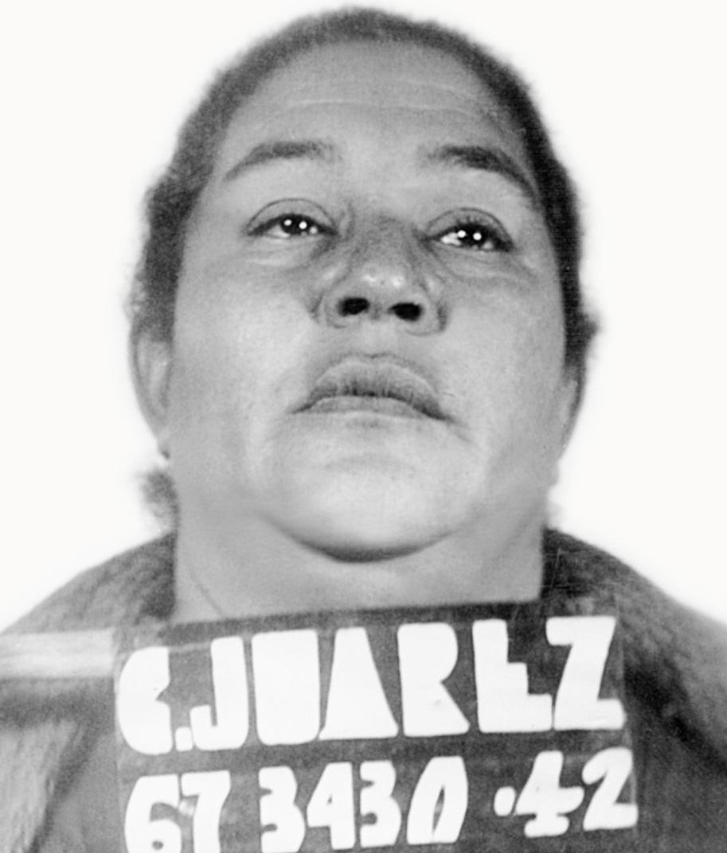 Ignacia Jasso la Viuda de González, photographed during a Ciudad Juárez booking in 1942, controlled Mexico's main heroin corridor for decades. (Photo courtesy of Bob Chessey)
