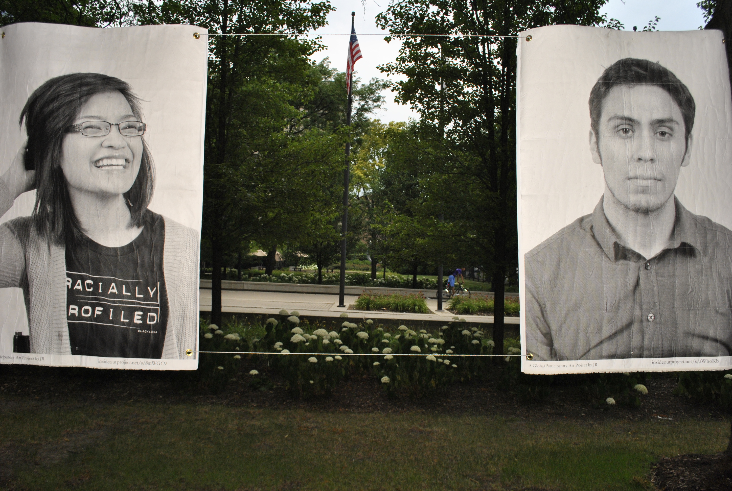 Portraits of undocumented immigrants Carla Navoa and Ariel Ruiz are among those exhibited at Jane Addams Hull-House Museum for their show 'I Define Myself: Undocumented and Unafraid.' (JAHH/Melissa Mahon)