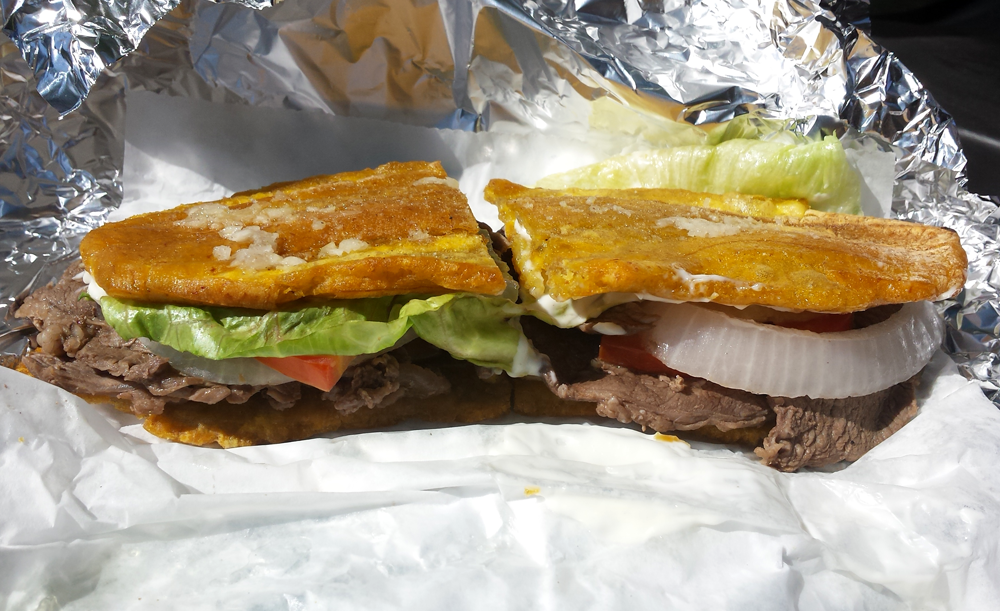The jibaro was inspired by a recipe in a Puerto Rican newspaper in the mid-1990s. Today, you can find the sandwich in dozens of restaurants in and out of Chicago. (WBEZ/Monica Eng)