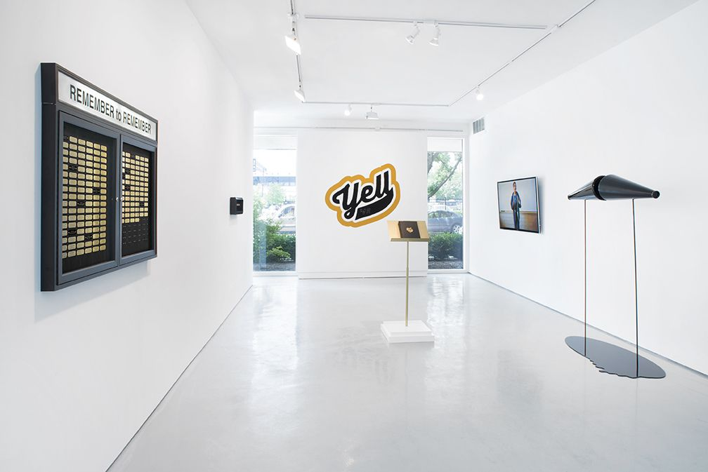 Just Yell Exhibition, Cheryl Pope, 2013 (James Prinz Photography, courtesy of the artist and moniquemeloche gallery)
