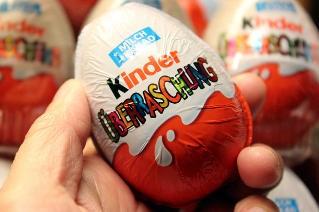 Kinder Surprise chocolate egg with toy inside (WBEZ/Louisa Chu)