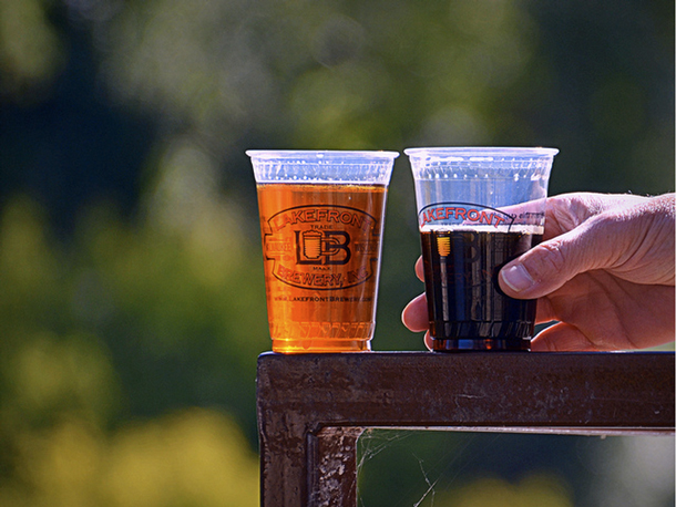 Beer from Lakefront Brewery, one of 21 breweries to sign the Natural Resources Defense Council's clean water pledge. (Flickr/Carlton Holls)