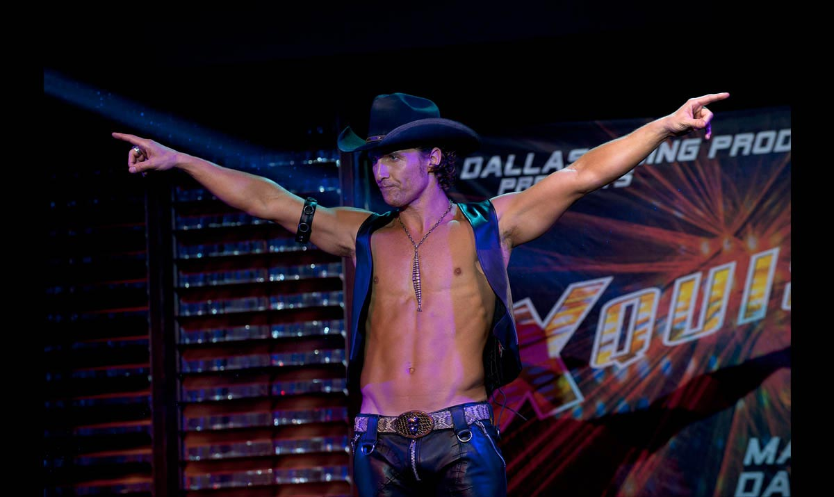 Matthew McConaughey in 'Magic Mike'. (Courtesy of Warner Bros)