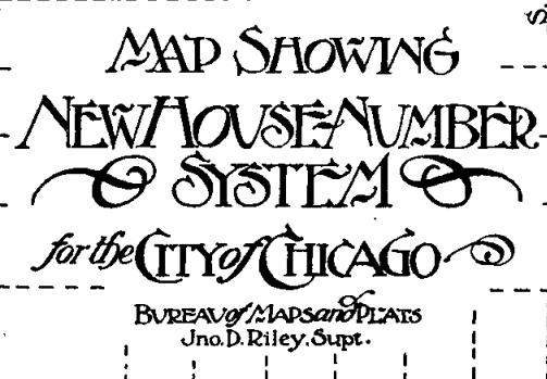 Click for full document of Chicago's 1909 street name and number changes.