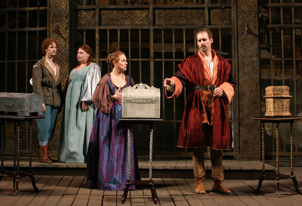 Young actors just out of school play six of the 19 roles in First Folio's 'Merchant of Venice.' (Courtesy of First Folio)