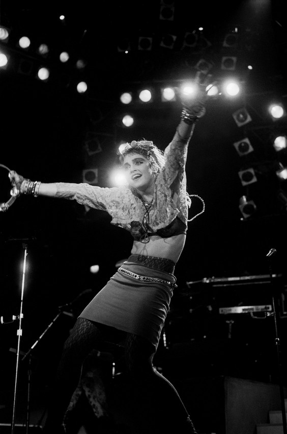 Madonna performs at the UIC Pavillion on May 18th, 1985, in Chicago. (Photo by Paul Natkin/Getty Images)