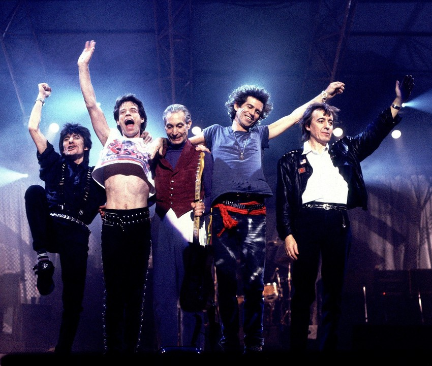 The Rolling Stones on the 'Steel Wheels Tour' in 1989. (Photo by Paul Natkin/WireImage)