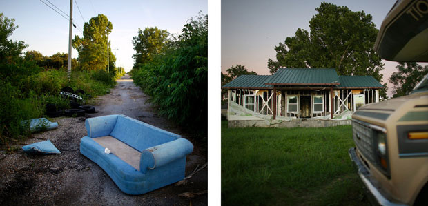 Ten years after Katrina and the flooding that followed, streets in the Lower Ninth Ward are still desolate. (David Gilkey/NPR)