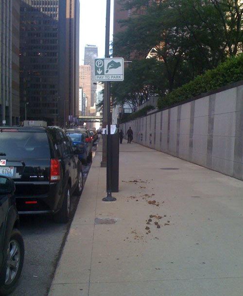 Is this a metaphor for what Rahm thinks of the parking meter deal? (Maggie Baran)