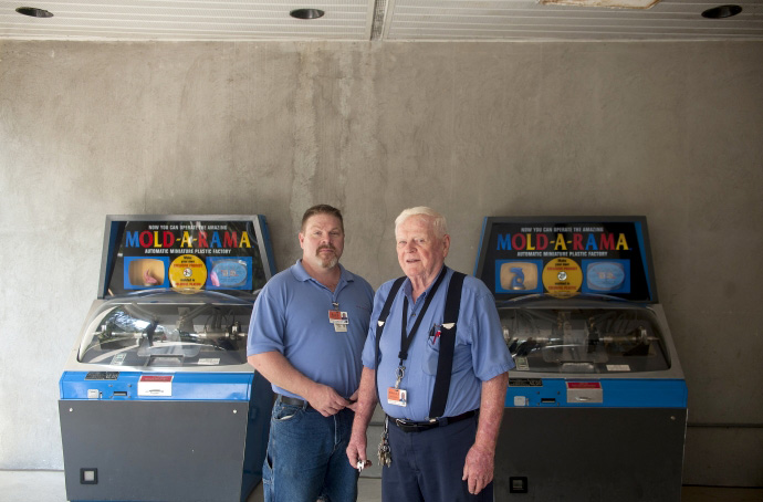 Paul Jones and his dad, Bill, who co-own Mold-A-Rama Inc. (Photo courtesy Paul Jones)