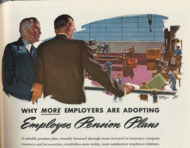 The Chicago Teachers' Pension Fund had no need to make ads like this persuading employees to choose pensions, as their own system pre-dated Social Security. (Flickr/Tobias Higbie)