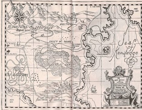The map from 'The Phantom Tollbooth'