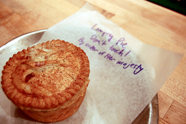 Lamprey pie at Pleasant House Bakery (WBEZ/Louisa Chu)
